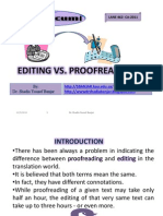 Editing vs. Proofreading, By Dr. Shadia y. Banjar