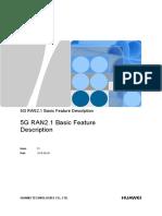 5G RAN2.1 Basic Feature Description_draft 1.0 20180808