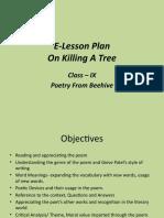 e lesson plan- On Killing A Tree