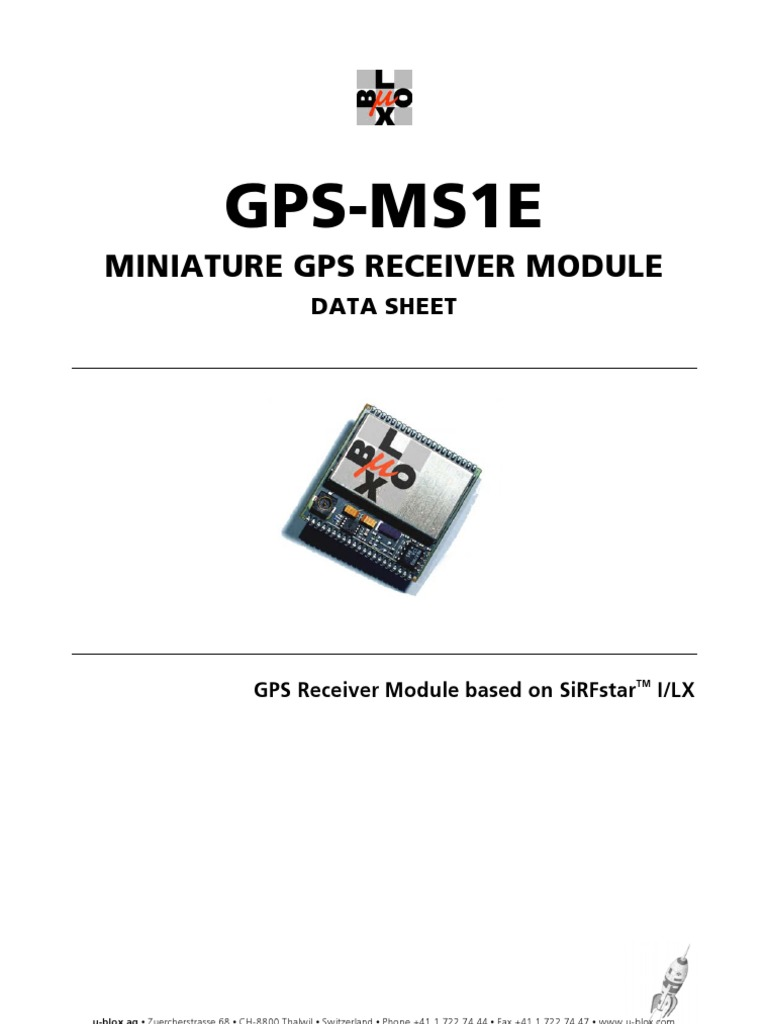 Gps Mse Miniature Gps Receiver Module Data Sheet Gps G Global Positioning System Electrical Connector