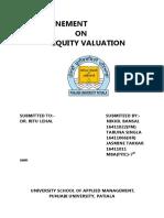 equity evaluation models