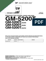 Manual Pioneer GM-5200T