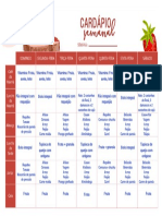 Calendario de Dietas
