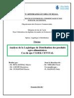 Analyse de La Logistique de Distribution Des Produits Agro-Alimentaires