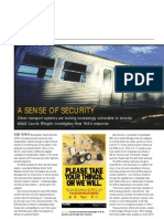 """A Sense of Security"" - Engineering & Technology story about securing US transportation against terrorism, Jan 2006"