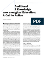 Weaving Traditional Ecological Knowledge Into Biological Education - A Call to Action