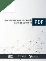 Consideraciones de política fiscal ante el COVID-19