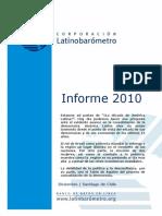 Informe Latinobarometro 2010