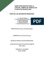 ACTIVIDADES PROPUESTAS PARA LA COMPENSACIÓN DEL TIEMPO DE TRABAJO EN LA PLANTA DE PRODUCCIÓN