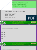 PJOK PAS Ganjil Kelas VII 19-20