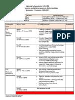 STB1093 Lect Schedule Sem 2 2018- 2019