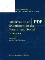 experiment and observation