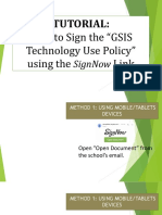 How to Sign the Technology Policy