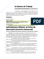 Reglamento Interno de Trabajo TIPS Y CLAVES