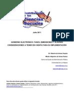 Gobierno electrónico fases, dimensiones y algunas consideraciones a tener en cuenta para su implementación