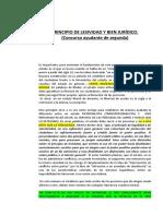 PRINCIPIO DE LESIVIDAD Y BIEN JURÍDICO