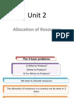 AA Unit 2 IGCSE - Allocation of Resources