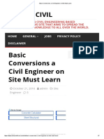 Basic Conversions a Civil Engineer  Must Learn
