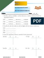 fichas - worksheets - repaso suma y resta