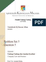 Problem Set 5 Question 5