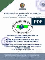 Primera Adquisicion De Medicamentos Anpe N°1 Para El Hospital Regional San Juan De Dios