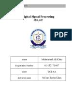 Digital Signal Processing lab manual