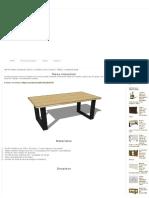 MESA estilo industrial, hierro y madera Cómo hacer  TABLE industrial style