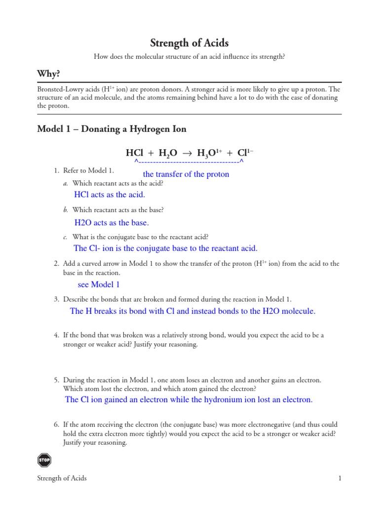 POGIL_-_Strength_of_Acids .pdf | Acid | Chemical Bond