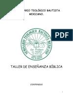TALLER DE ENSEÑANZA BÍBLICA