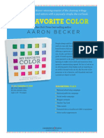 My Favorite Color by Aaron Becker Press Release