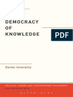 The Democracy of Knowledge-Bloomsbury Academic (2013)