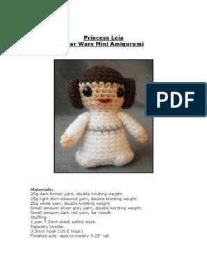 Crochet Princess Leia inspired Amigurumi Doll (Video 1) - YouTube   396x298