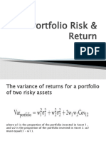 Portfolio Risk & Return