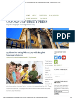 25 Ideas for Using WhatsApp With English Language Students - Oxford University Press