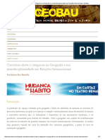 Conceitos-chave e categorias na Geografia e sua interdisciplinaridade nas Relações Internacionais _ GeoBau - Marcos Bau Brandão