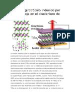 El efecto girotrópico inducido por luz infrarroja en el diseleniuro de titanio