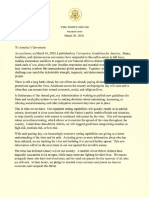 Trump letter to governors on coronavirus guidance
