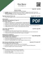 eshaver resume 2020  2