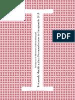 a. Cartilla de Identificacioìn y Recomendaciones de Salvaguardia 2015