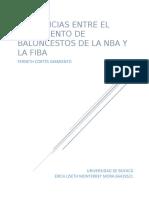 DIFERENCIAS RGLAMENTO NBA Y FIBA