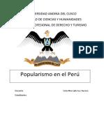 POPULISMO EN EL PERU