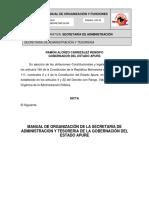 Manual de Organizacion y Funciones Secretaría de   Administración.pdf