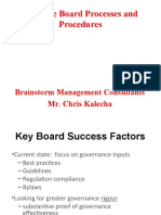 Effective Board Processes and Procedures
