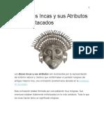 20 Dioses Incas y sus Atributos Más Destacados
