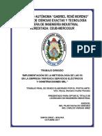 Implementacion de la Metodologia de las 5S en la Empresa Trifasica SRL