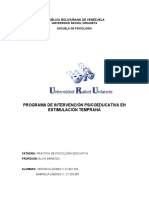 Programa de intervencion psicoeducativa
