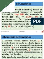 Laboratorio de Concretos. Especificaciones de diseño por grupos