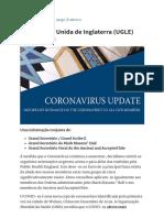 Grande Loja Unida de Inglaterra (UGLE) Coronavirus – Informação aos membros - Freemason.pt