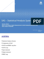 SAS - Statistical Analysis System