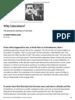 Why Literature_ _ The New Republic.pdf